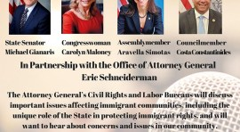 Immigration Town Hall in Astoria this Tuesday 18 of April