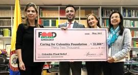 Food  Bazaar Supermarket dona $32,000 para damnificados de Mocoa