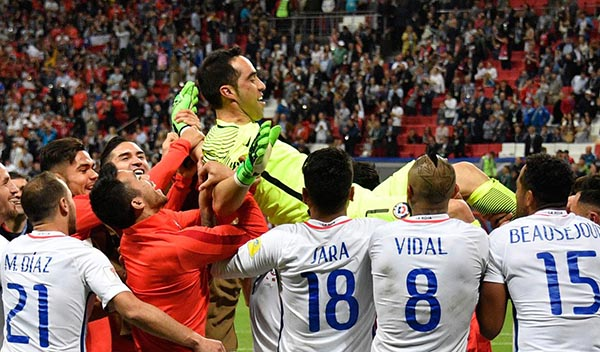 Chile vence a Portugal en pénalties