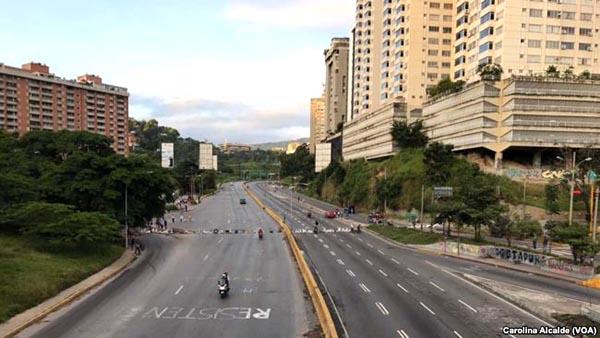 Caracas desolada contra presidente Maduro