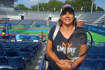 Gigi Fenández antes de jugar en Queens.