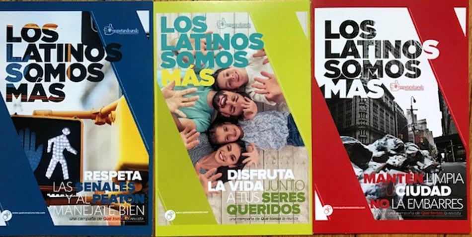 Volantes de la campaña cívica #LosLatinosSomosMas.