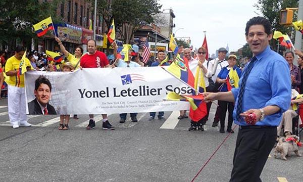 Yonel Letellier sigue peleando contra el Partido Demócrata por su candidatura al Concejo de NY