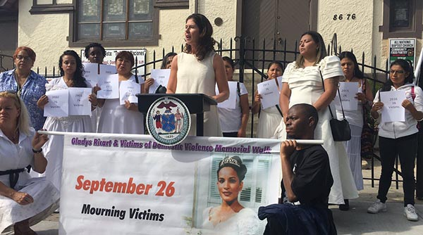 Councilwoman Crowley Marches With Anti-Domestic Violence Organizations in Queens