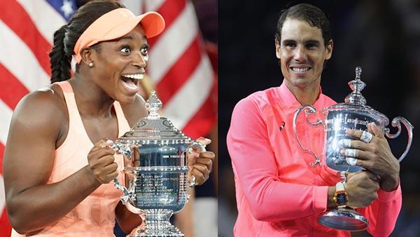 Nadal y Stephens ganan el US Open en Nueva York