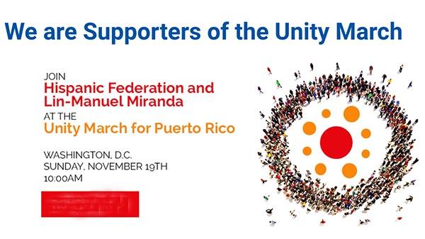 Marcha por Puerto Rico el domingo 19 de noviembre en Washington D.C. (transporte gratis)