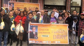 Senator Peralta and Woodside on the Move Distribute more than 700 Turkeys to Local-Based Organizations and Schools