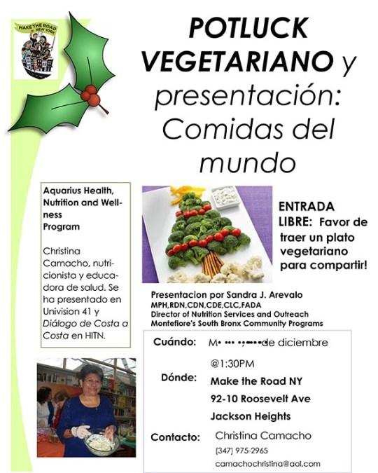 Curso de nutrición en Make the Road NY este martes 19 de diciembre