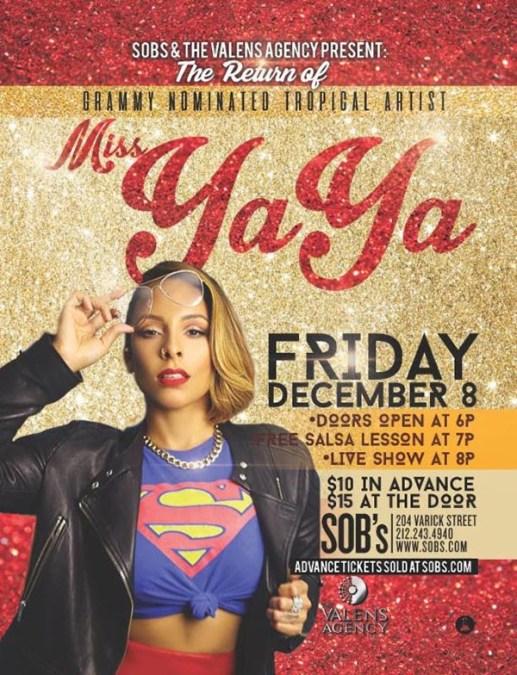 Miss Yaya te pone a bailar este viernes 8 en SOB del bajo Manhattan