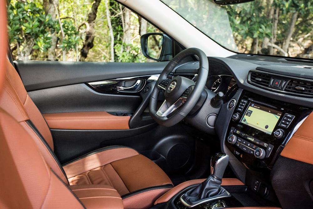 El interior del Nissan Rogue Hibrido es cómodo y elegante. Foto cortesía