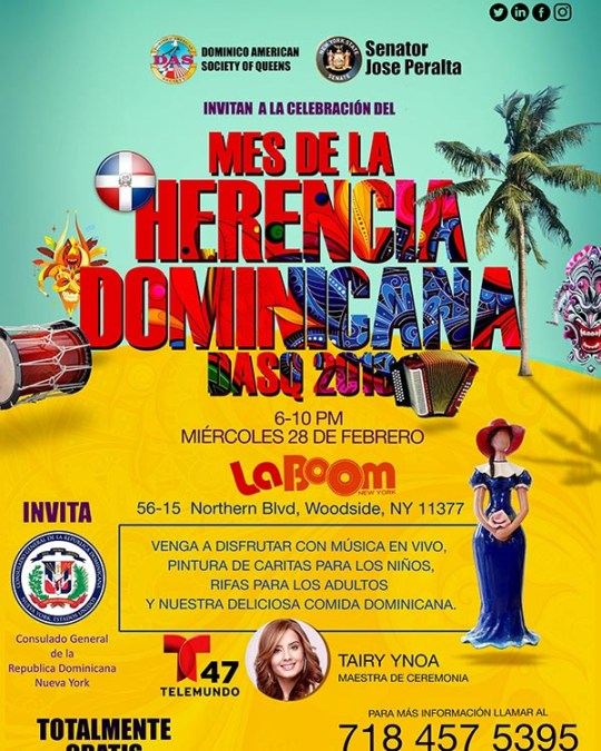 Fiesta dominicana en LaBoom el 28 de febrero