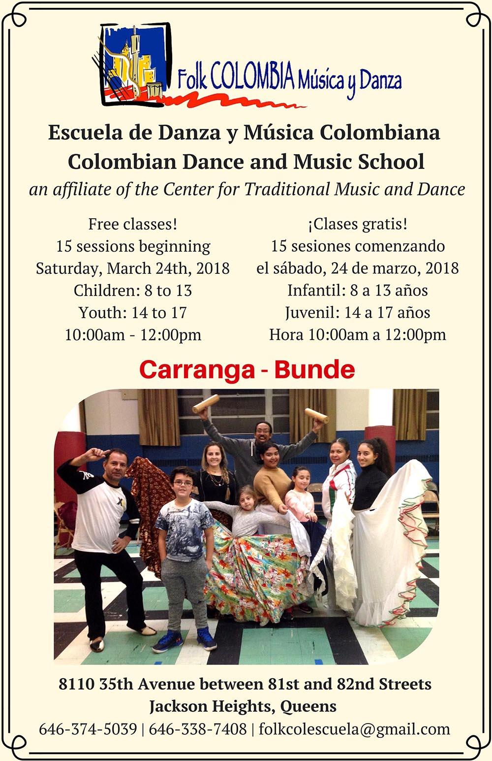 FolkCOLOMBIA music classes