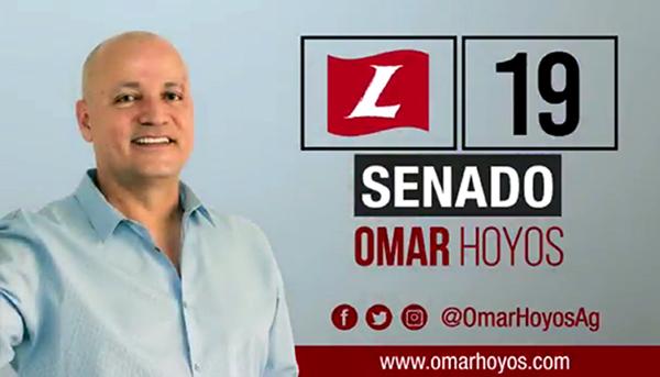 Omar Hoyos al Senado de Colombia #ConBerraquera