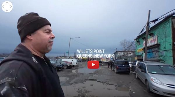 Obreros latinos de Willets Point en video 360vr