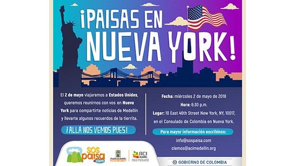 Consulado de Colombia en Nueva York reúne a antioqueños