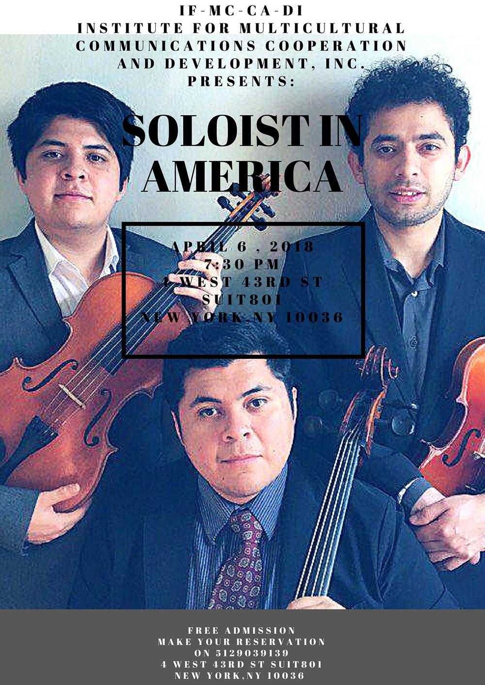 Soloist in America concierto NY