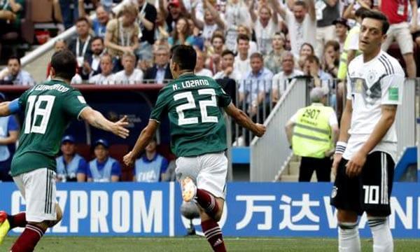 México vence a Alemania y Brasil nada en Copa Mundo 2018