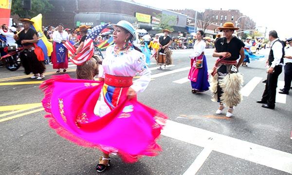 Desfile Ecuatoriano y Festival de Cultura en Queens