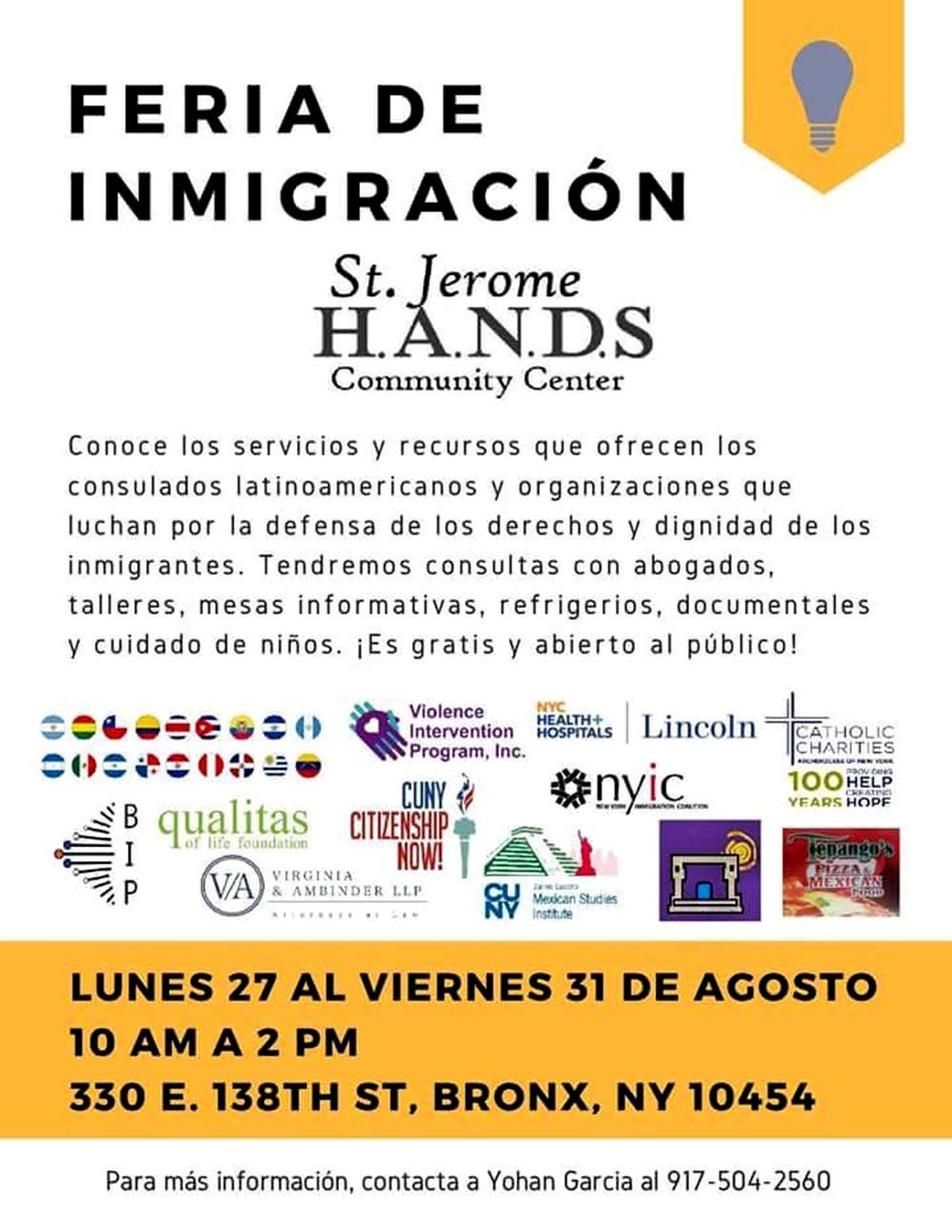 Hands Feria de Inmigracion
