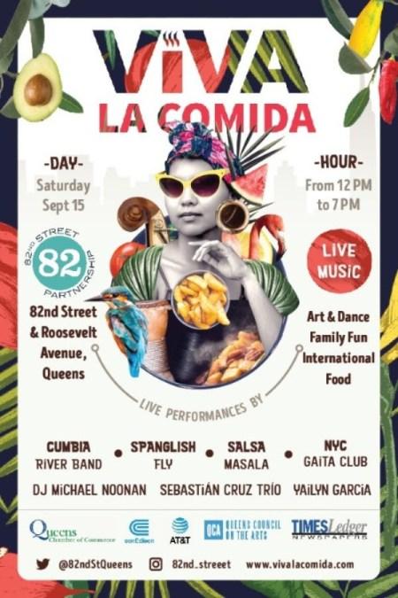 Viva la Comida in Jackson Heights this Saturday 15th