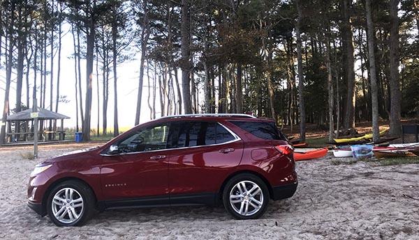El carro Chevrolet Equinox para salir al campo y relajarse