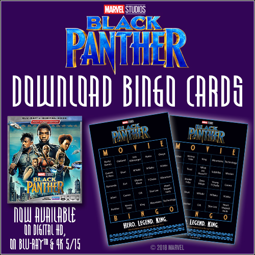 Download Your Very Own \u201cBlack Panther\u201d Bingo Cards+ Black Panther Is