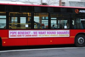 Advert on London bus calling on Pope to Ordain Women