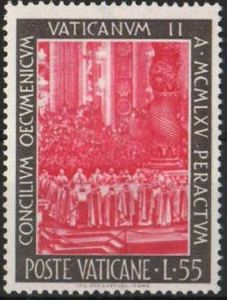 postage stamp showing Vatican 2 Council