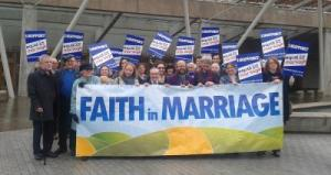 Faith in Marriage rally of Scottish faith groups keen to offer lesbian and gay weddings