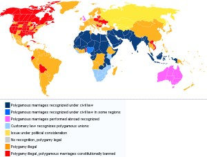 Traditional Marriage worldwide: Polygamy