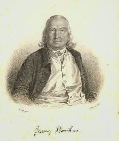 Jeremy Bentham engraving by J. Thomson, from a painting by W. Derby (courtesy of the Bentham Project)