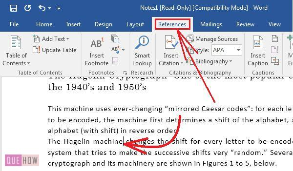 How to Create Insert and Update Citation in MS Word 2016? (with