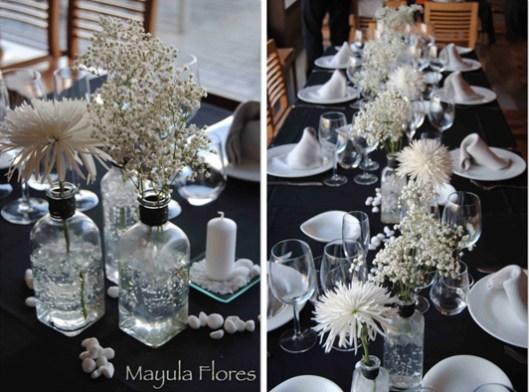 Decoración mesa para boda