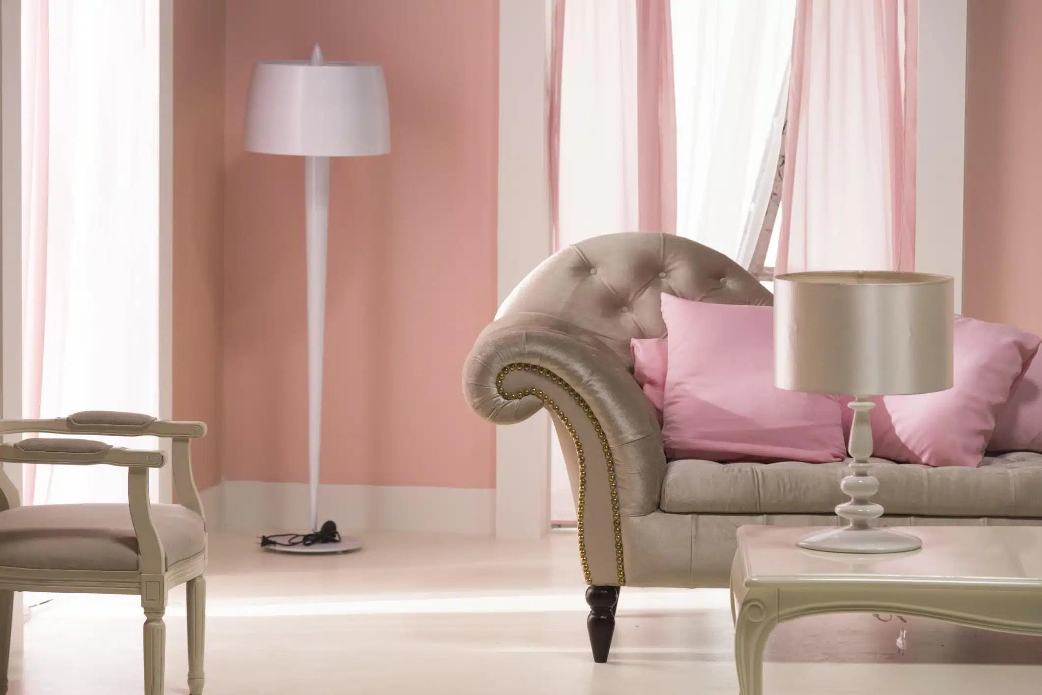 Pareti A Strisce Lilla : Tende soggiorno lilla arredare casa con le tende fotogallery