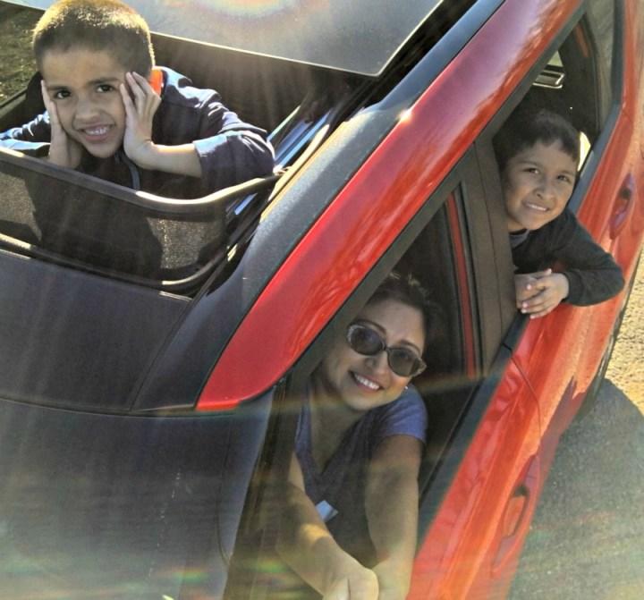 Car selfie in KIA Soul