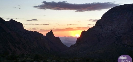 Sunset at the Window at Big Bend National Park