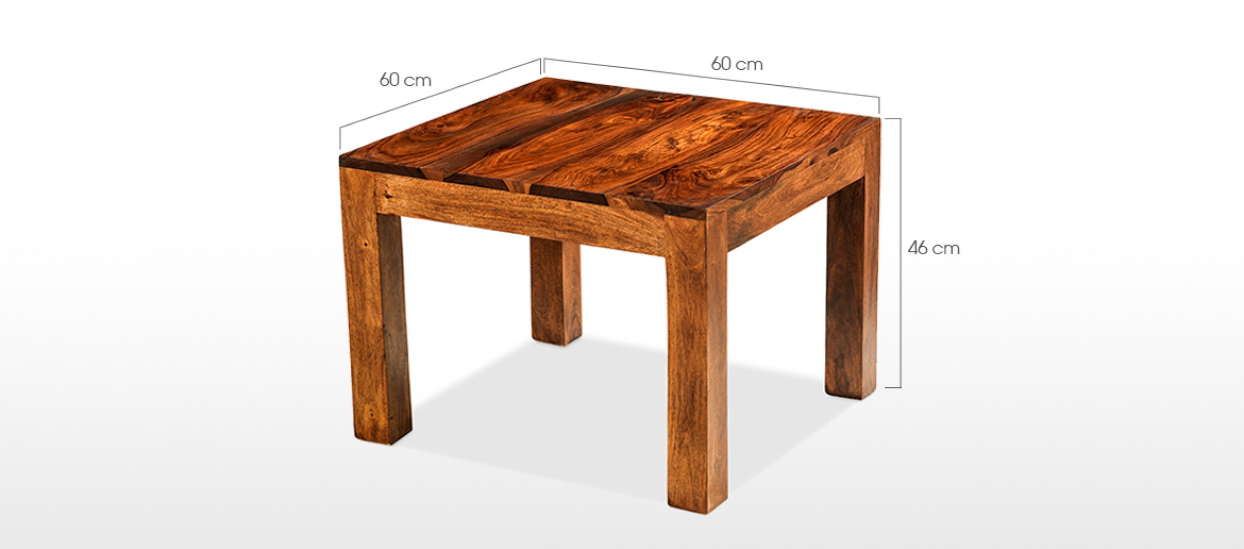 Couchtisch Cuba Cube Sheesham 60 Cm Coffee Table Quercus Living