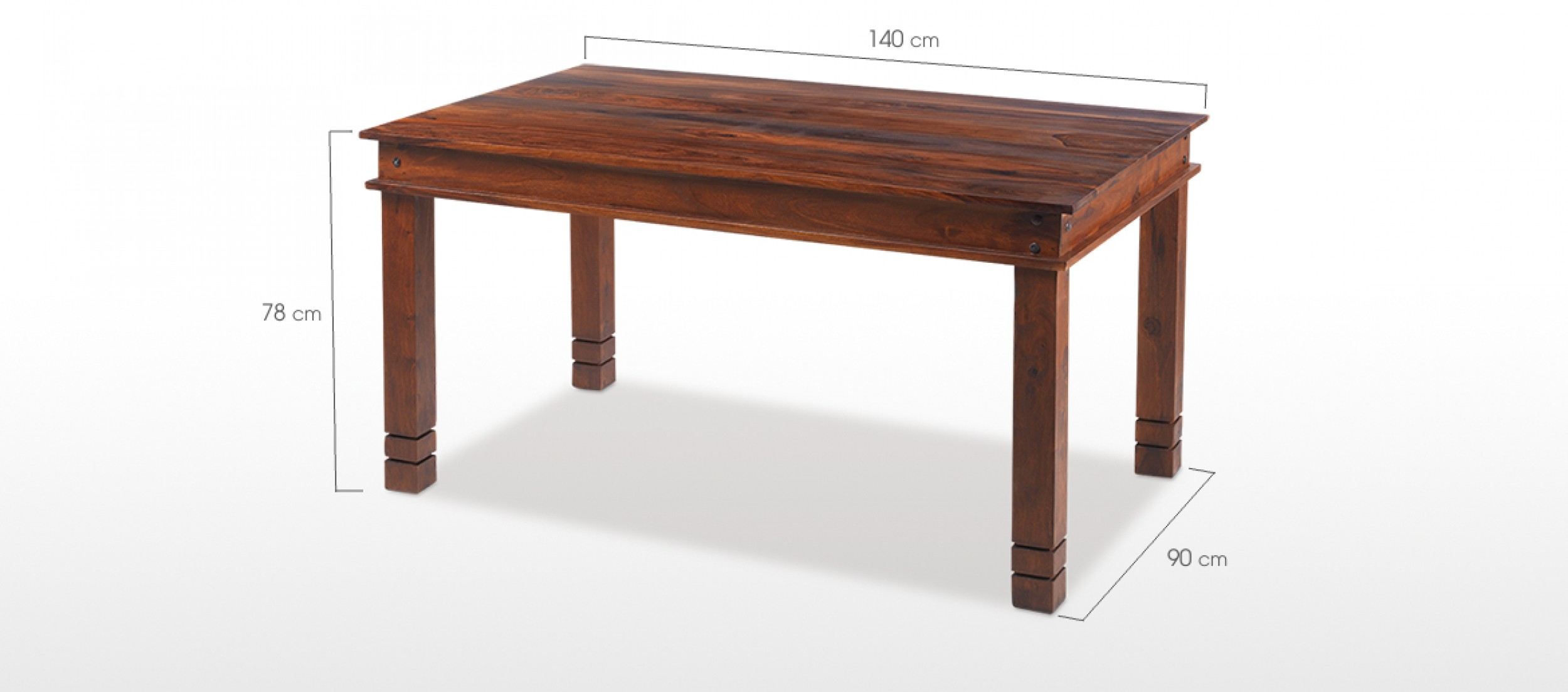 Table 140 Jali Sheesham 140 Cm Chunky Dining Table