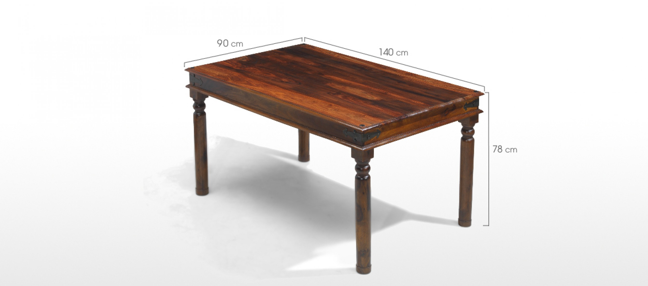 140 Cm Jali Sheesham 140 Cm Thakat Dining Table And 4 Chairs