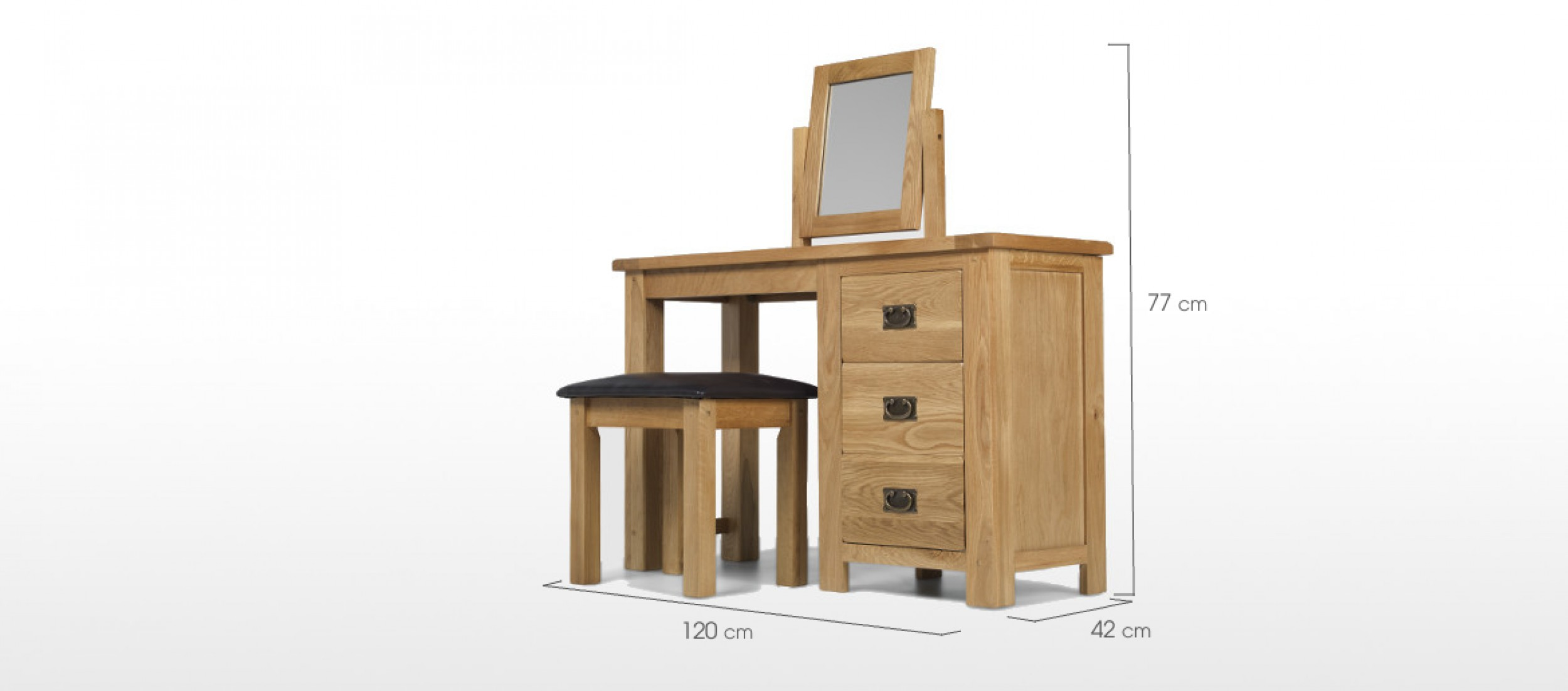 Dimension Dressing Rustic Oak Dressing Table Set