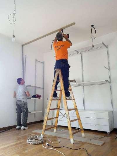 Come realizzare una cabina armadio questioni di arredamento - Creare una parete in cartongesso ...