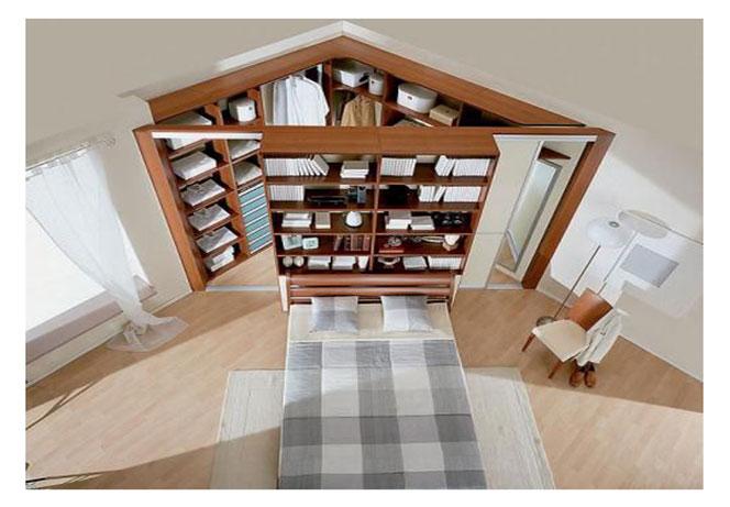 Cabina armadio angolare dietro al letto questioni di arredamento - Camera da letto con cabina armadio e bagno ...