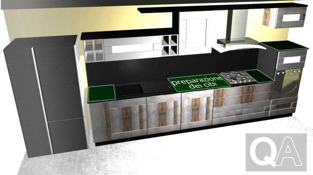 Progettare la cucina disposizione razionale - Disposizione mobili cucina ...