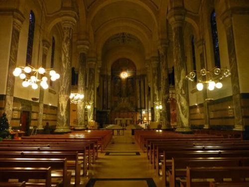 Interior de la Iglesia de la Visitación de Annecy