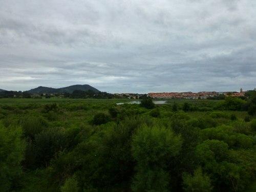 Vistas de la Marisma Victoria desde el observatorio de aves de Noja