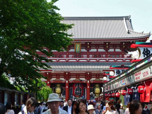 Templo Sensoji, uno de los planes gratis en Tokio