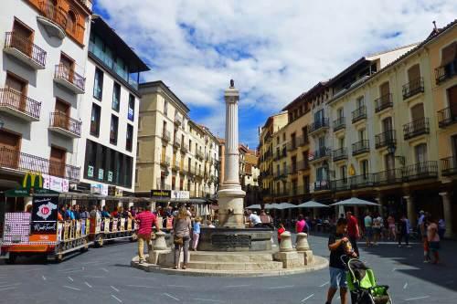 Fuente del Torico en la Plaza Carlos Castel de Teruel