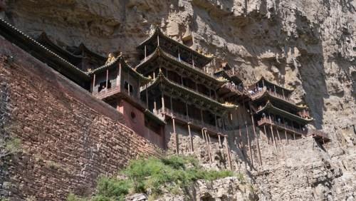 Templo Xuankong colgado en la ladera del Monte Hengshan, excursiones desde Datong