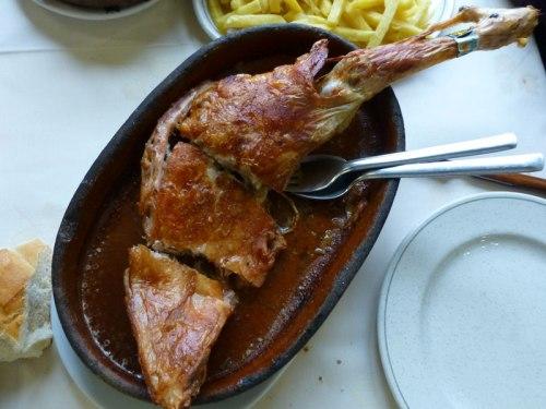 Asado castellano, plato típico de la gastronomía de Nuevo Baztán