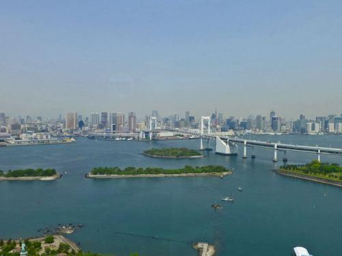 Vistas de Tokio desde el mirador del edificio Fuji TV